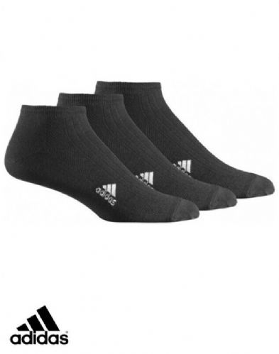 adidas sport 3 pack Ribbed liner Socks soft & Durable Junior Infant black Z25997